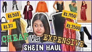 Cheap Vs Expensive SHEIN TRYON HAUL   SHOPPING BATTLE: Is there a difference? Clothes, Bags & MORE
