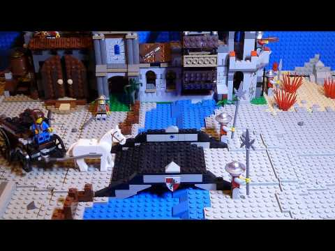 LEGO Kingdoms Mill Village Raid 7189 Stop Motion War + Build Music Videos