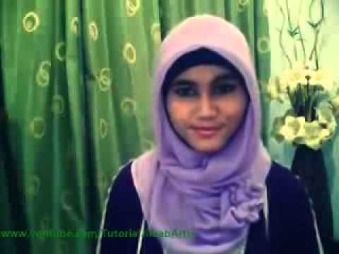 Cara Pakai Jilbab Modern With Square Paris;; #hijabers video