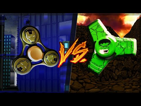 FIDGET SPINNER DO HOMEM DE FERRO VS SPINNER DO HULK no MINECRAFT
