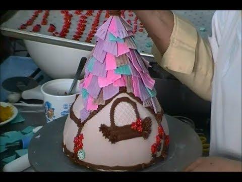 Pastel en fondant 3D, Torre de Rapunzell.- LuzMa CyR.