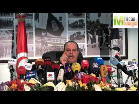 Conférence de presse organisée, par le ministère de l'Intérieur Nejem Gharsalli