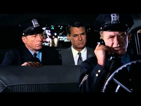 Hitchcock's North by Northwest (1959): Cary Grant's little push