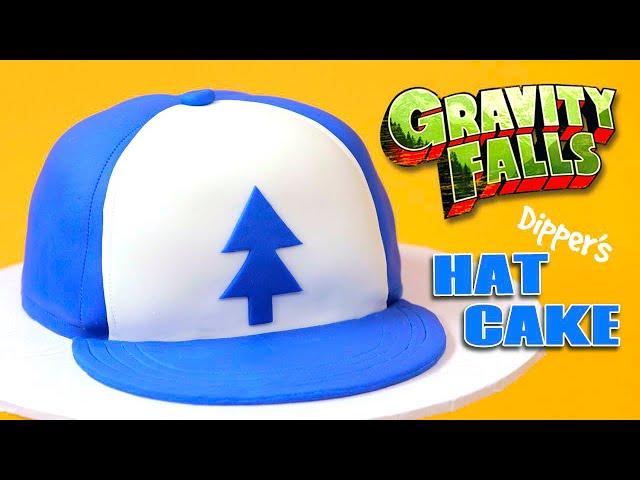 GRAVITY FALLS DIPPER'S HAT CAKE - NERDY NUMMIES
