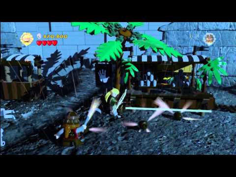 Lego Lord of the Rings: Level 11/Helms Deep - FREE PLAY - All Collectables - HTG