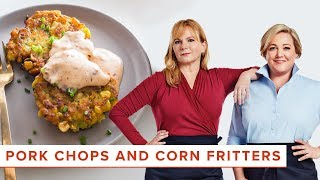 Pork Chops and Corn Fritters