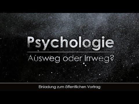 Psychologie - Ausweg oder Irrweg  (Einladung zum öffentlichen Vortrag)