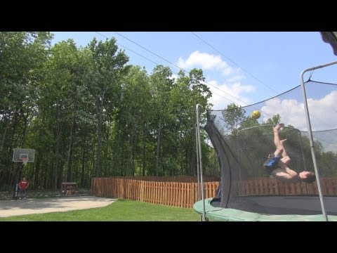 World's Best Trampoline Trickshot