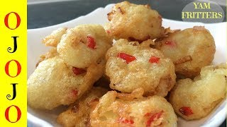 How to Make Ojojo | Yam Fritters | Nigerian Food