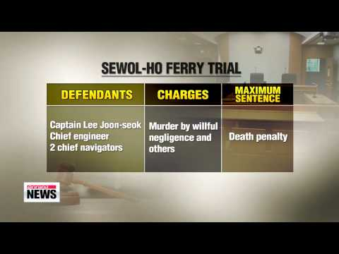 Prosecutors deliberating penalties as Sewol-ho ferry trial continues Monday   세월