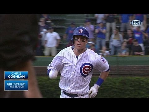 LAD@CHC: Coghlan puts Cubs in front with second homer