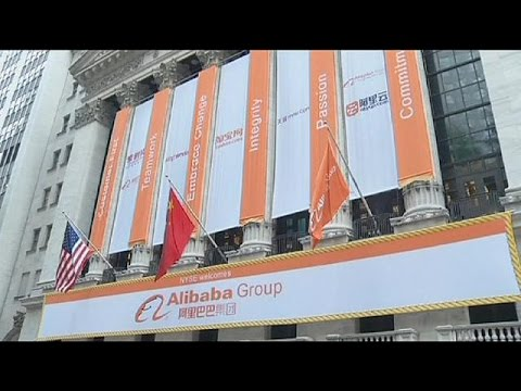Chinese e-commerce firm Alibaba's stunning NY market debut