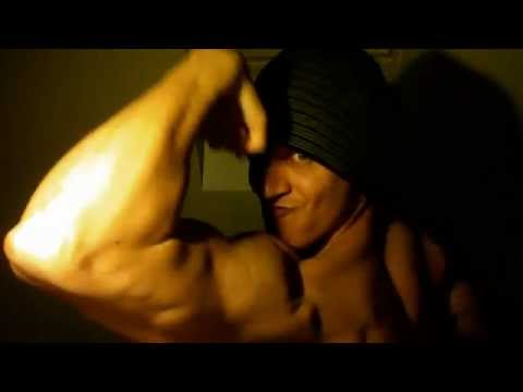 Muscle worship bicep flex bodybuilder pumped muscle