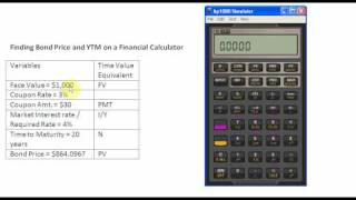Finding Bond Price and YTM on a Financial Calculator