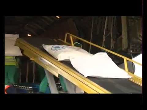 WFP AIR DROPS FOOD TO DISPLACED PEOPLE