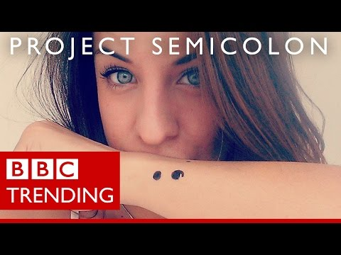 Semicolon tattoos - why are people getting them? - BBC Trending
