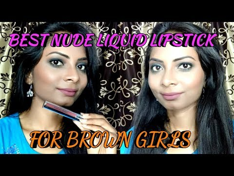 BEST NUDE LIQUID LIPSTICK FOR DUSKY/BROWN GIRLS || COLORBAR KISS PROOF LIP STAIN REVIEW/DEMO ||