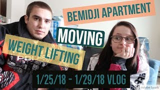 Moving, Weight Lifting, & Rambling- Our Specialty- Compilation VLOG | 1.25.18-1.29.18