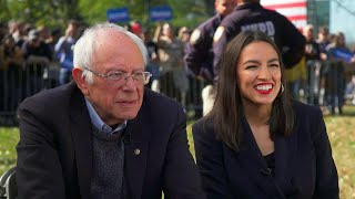 "Could AOC be Bernie Sanders' running mate? ""I think I'm too young for that,"" she says"