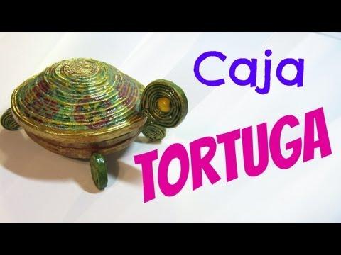 Reciclaje: Cofre tortuga. Box turtle.