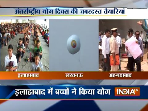 Various cities across the country prepares for International Yoga Day