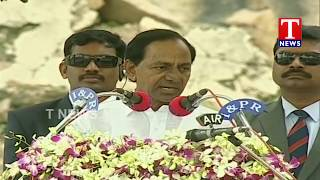 CM KCR Speech on Agriculture Sector Issues  | Independence Day Celebrations | Golconda