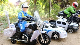 Toy reviews for kids | Motorcycle | Police Car | Pickup | Tank | Helicopter