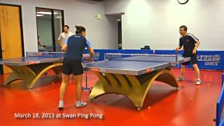 Training with Coach Yi: Push against serve, over-the-table with side back spin