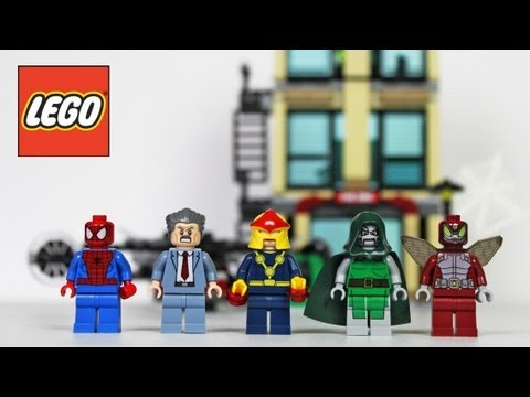 LEGO Spider-Man Daily Bugle Showdown Review. Unboxing. Time Lapse Build Super Heroes 76005