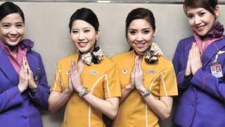 The Sexy , Beautiful Girls of Nok Air , Thailand all in super HD - includes their crazy dance !
