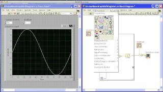 Sine Wave Graph with Shift Registers in Labview.mp4