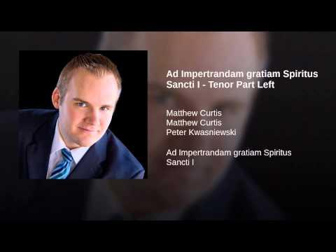 Ad Impertrandam gratiam Spiritus Sancti I - Tenor Part Left