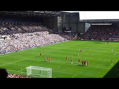 Shane Long Penalty Miss - WBA 3-0 Liverpool (18/08/12)