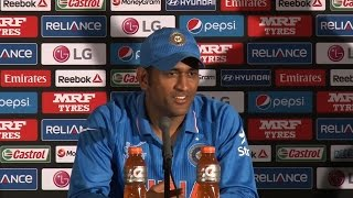 2015 WC Ind vs SA: Dhoni reacts after winning