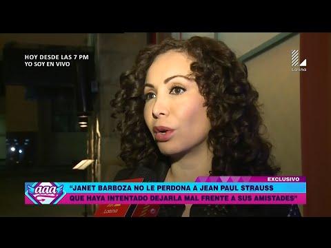 AMOR AMOR AMOR 20/06/16 JANET BARBOZA ARREMETE CONTRA JEAN PAUL STRAUSS POR TRATAR DE DEJARLA MAL