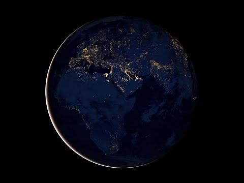 Ночные города Земли из космоса