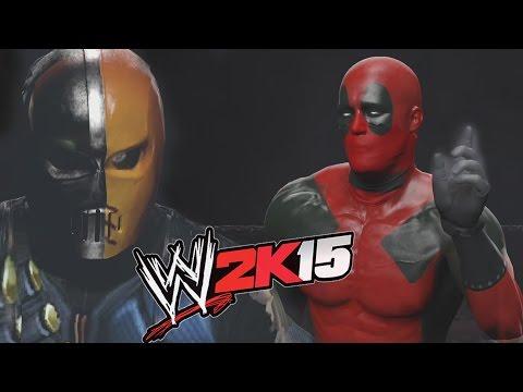 WWE 2K15 - DEADPOOL VS DEATHSTROKE - Hell In A CELL Match thumbnail