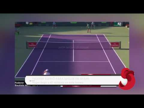 Roger Federer vence a Robert Bautista en el Miami Open