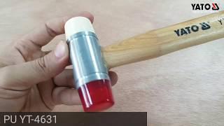 [DỤNG CỤ CẦM TAY] Búa 2 đầu nhựa PU trắng đỏ Yato YT-4631 | YATOTOOLS 📱0936318800