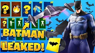 *NEW* All Leaked Fortnite X Batman Cosmetics..!! (Batman Skin & Glider, DC)
