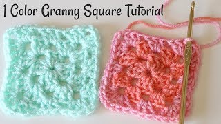 Crochet Granny Square with One Color Tutorial
