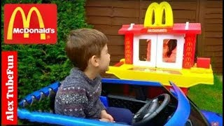 McDonald's Drive Thru Kids Pretend play with Toy Kitchen