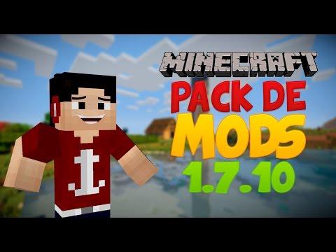 Minecraft 1.7.10 Pack de 44 MODS + Instalación El mejor y solo pesa 13 Mb