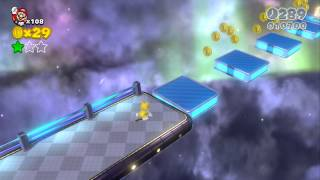 Super Mario 3D World 100% Walkthrough Part 24 - World Star-2 - Super Galaxy (Unlocking Rosalina)