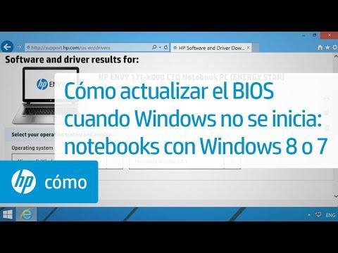 Cómo actualizar el BIOS cuando Windows no se inicia: notebooks con Windows 8 o 7 | HP Notebook | HP