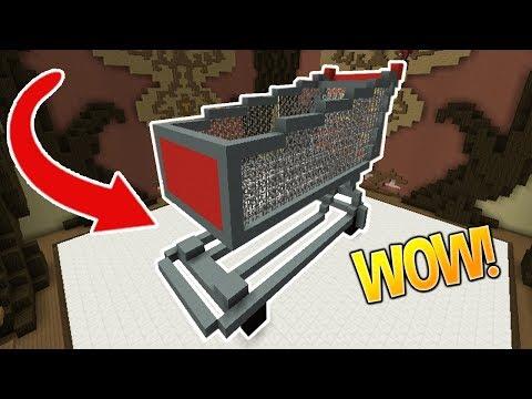 REALISTIC SHOPPING CART!! (Minecraft Build Battle)