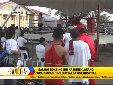 Brain-dead teen boxer brought to UST Hospital