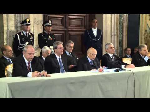 Roma - Napolitano auguri Corpo Diplomatico (18.12.14)