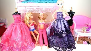 Disney Princess Mermaids Dress Frozen Elsa Moana Cinderella Costume Slide Pool Little Mermaid Doll