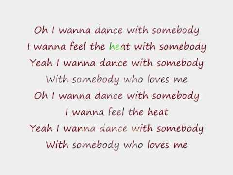 I will dance with somebody lyrics